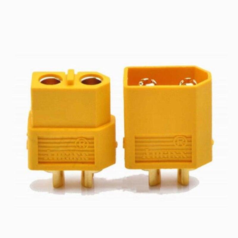10 шт. Amass XT60 XT90 XT30 мужские и женские разъемы банановые пробки медные пули Позолоченные RC части для Lipo батареи XT-60 XT-90 - Цвет: XT60