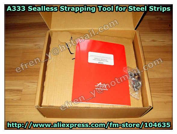 A333 ручной инструмент для обвязки стальными лентами, ручной Sealless стальной ОБВЯЗОЧНЫЙ станок для 13-19 мм стальной ленты