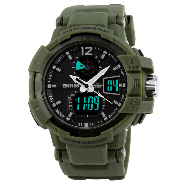 53e64d852e39 Deportes Al Aire Libre Relojes Para Hombres Jóvenes LED Multifunción Reloj  Digital Resistente Al Agua Reloj