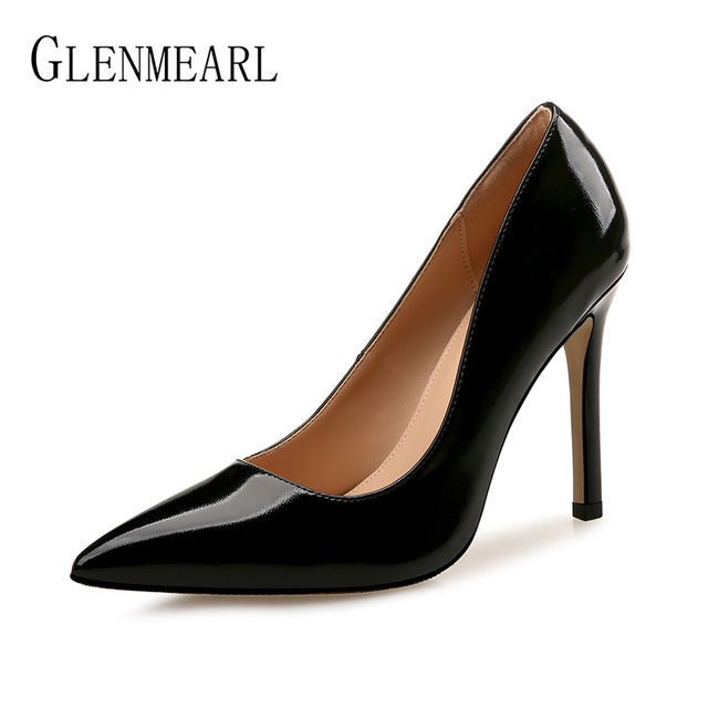 c7a24a4f80 Women Pumps High Heels Shoes Female Brand Spring Autumn Office Ladies Shoe  Pointed Toe Wedding Party