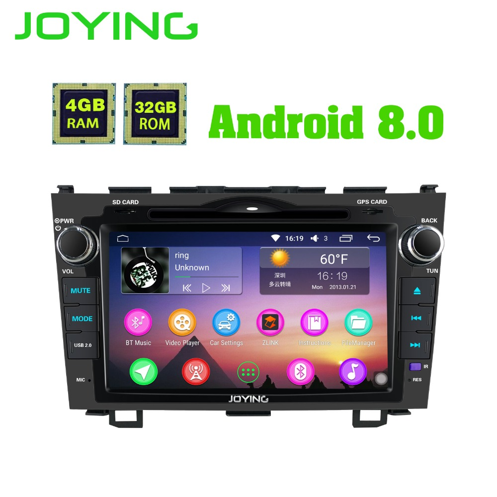 8 Joying Magnétophone Android Autoradio Stéréo GPS Navigation Autoradio Pour Honda CR-V CRV Lecteur Multimédia Avec DVD lecteur