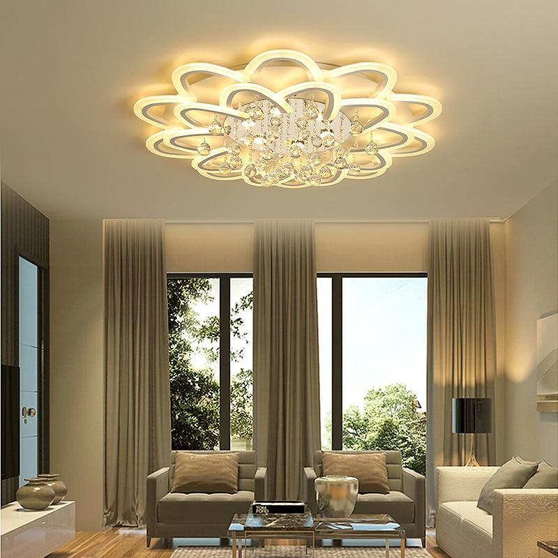 Overhead Lighting For Living Room: Led Crystal Ceiling Lamp For Living Room Bedroom Kitchen