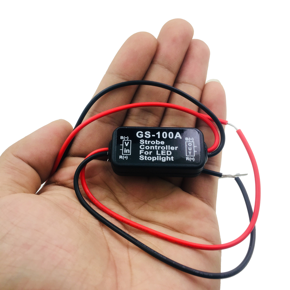 2018 NEW Auto Car 12V GS-100A LED Brake Stop Light Strobe Flash Flashing Controller Box