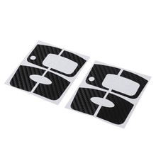 QILEJVS 2 Pcs Carbon Fiber Car Key Sticker For Ford Focus 2 3 2009-2012 Fiesta Ecosport 2012-2014(China)