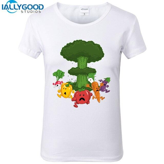 887cbc6a Summer Vegetables Funny T-Shirt Green bombs Design Harajuku shirts Women  Short Sleeve kawaii White T shirt Tops S804