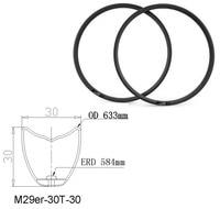 29er Tubular Full Carbon Fiber Bike MTB Rim 30mm Depth 30mm Width Mountain Bicycle Rim
