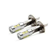2 шт. H1 H3 5630 Светодиодный высокое Мощность светодиодный Противотуманные фары дальнего света лампы DRL 10SMD 5630 5730 супер яркий белый