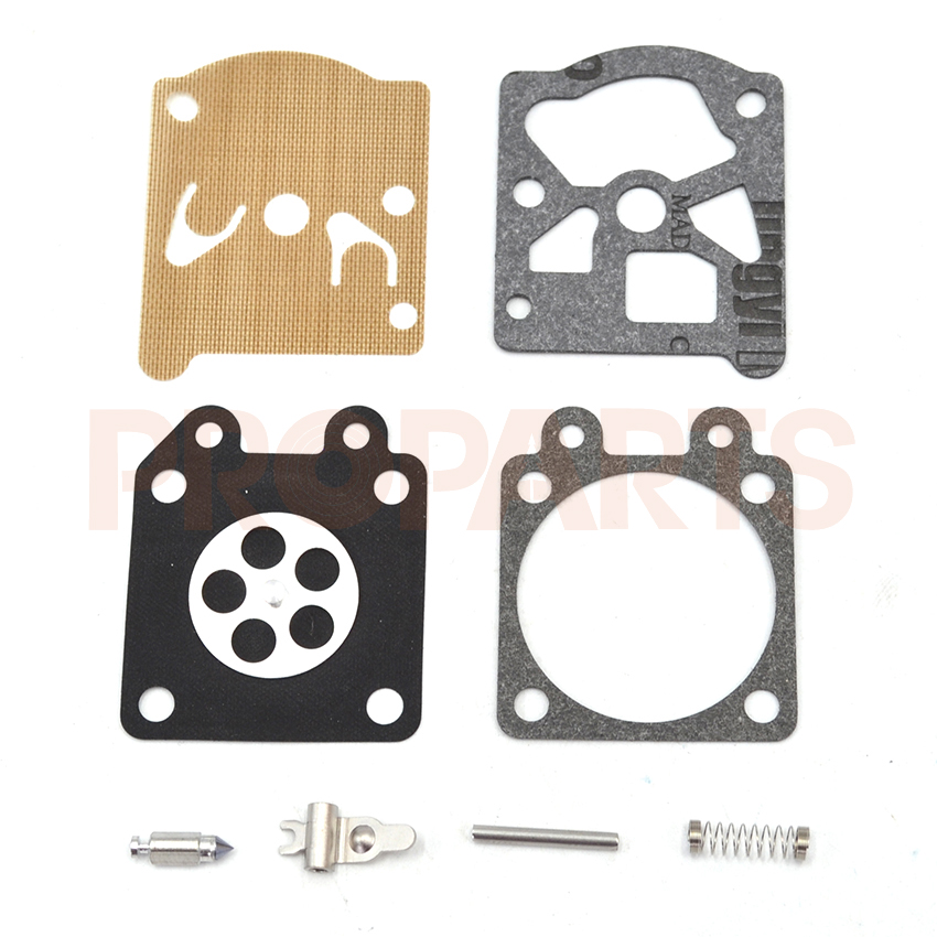 5 Set Carburetor Carb Repair Gasket Kit For HUSQVARNA 50, 51, 55 Chainsaw Parts dreld carburetor repair kit carb rebuild tool gasket set for walbro k20 wat wa wt stihl hs72 hs74 hs76 hs75 hs80 chainsaw parts