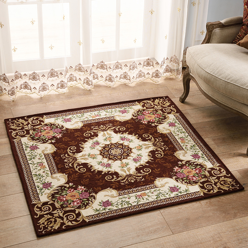 European style square anti skid jacquard carpet for living for Styles of carpet for home