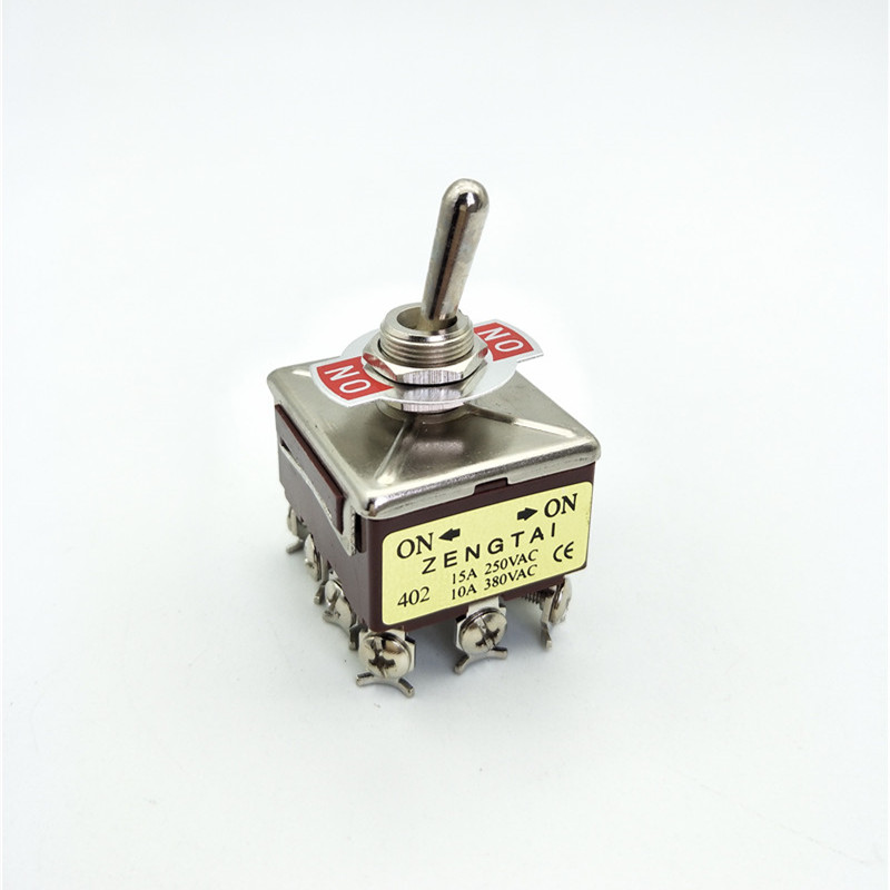 KN402 4PDT ON//ON 2 Position 12 Pin 10A//Toggle Switch 250VAC//15A 380VAC