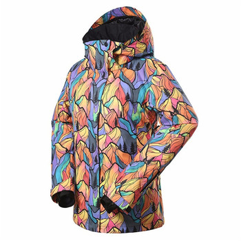 Kobiet zimy Snowboard kurtka damska Snowboard kurtki narciarskie ubrania wiatroszczelna wodoodporna oddychająca narciarstwo kurtki tanie i dobre opinie Jocelyn Katrina WOMEN Drukuj Z kapturem Pasuje prawda na wymiar weź swój normalny rozmiar WO-JIAKE-03 COTTON Poliester