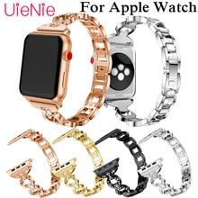 цена на For Apple Watch 40mm 44mm 38mm 42mm smart watch wrist strap for Apple Watch series 4 3 2 1 iWatch luxury crystal bracelet