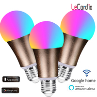 3pcs Smart WiFi Light Bulb led lamp 7W RGB Magic Light Bulb E27 Dimmable Wake Up Lights Compatible with Alexa Google Assistant