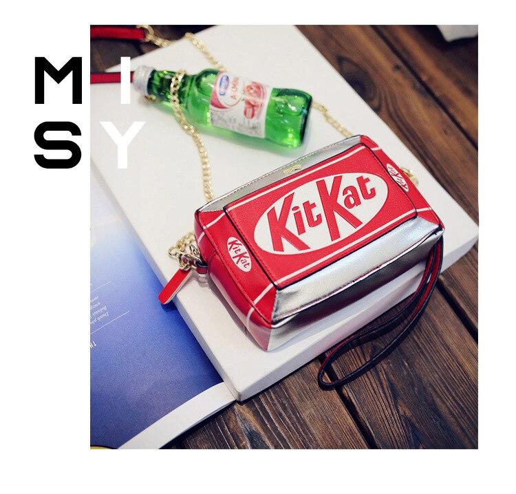 2017 New Handbag Small Box Shape Shoulder Bag Funny Personality Crossbody Bag Diagonal Chain Bag Fashion Messenger Bag