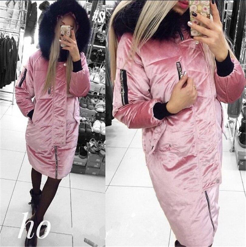 2017 Royal Le À Mode Marron Femmes Coton Limitée rose Manteau Épaisse Femelle La Taille Chaud Large Fermeture Vente gris bleu Solide Vêtements D'hiver De Éclair Directe Dans Temps Longue XfXqzr