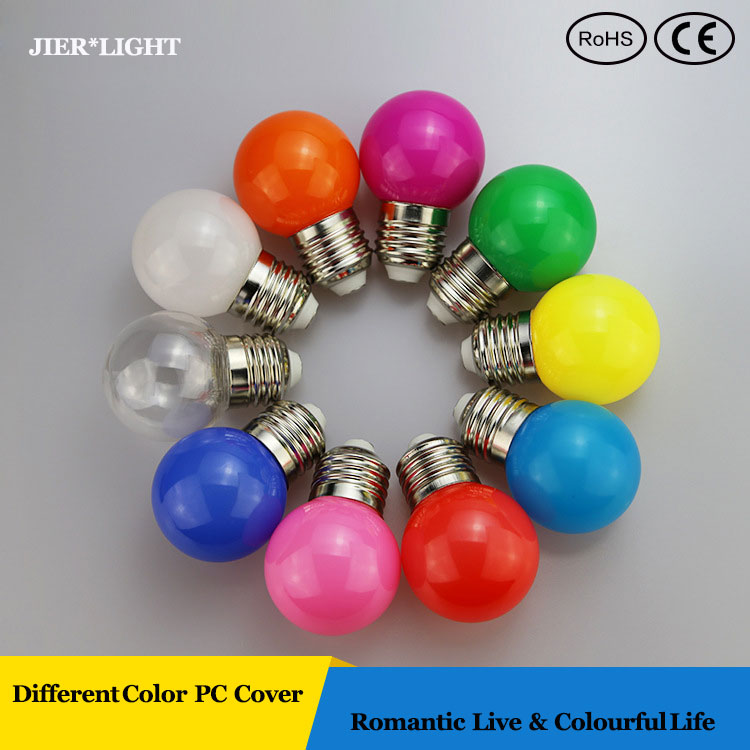 5pcs/lot Free shipping Colourful RGB led bulb 1W Decorative Lamp for Christmas/Party/Wedding