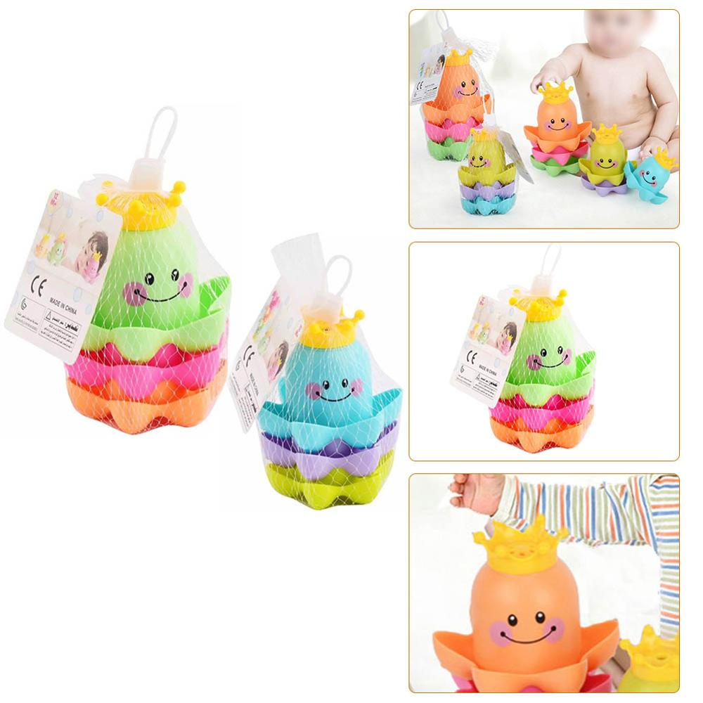 Ocean Life Stacking Cups Bath Toy Summer children's play water beach toys Children Play Educational Cute Funny Bathroom Toys 1