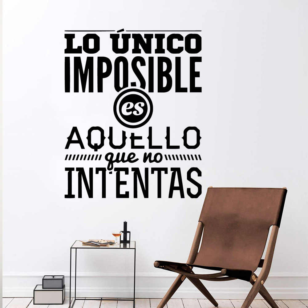 NEW Spanish Sentences Nursery Wall Stickers Vinyl For Bedroom Decoration Wall Art Decal Living Room Mural vinilos decorativos