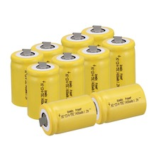 Anmas Power 1.2V 1400mAh Rechargeable Battery 1/4/10Pcs Yellow Color Ni-CD 4/5 Sub C Ni-CD Cell with Welding Tabs все цены