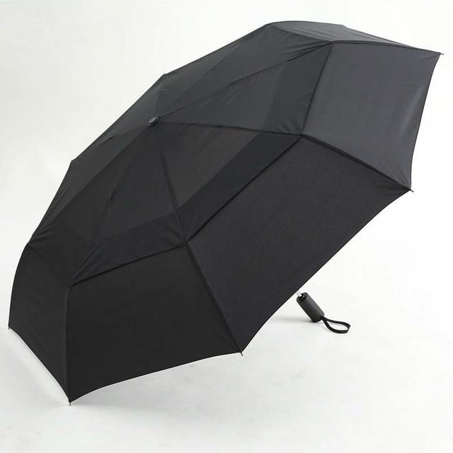 cb13d7694a65 US $22.87 | Storm Windproof Double Layer Umbrella Business Men Women 2 3  People Sunny Rainy three folding creative umbrella -in Umbrellas from Home  & ...