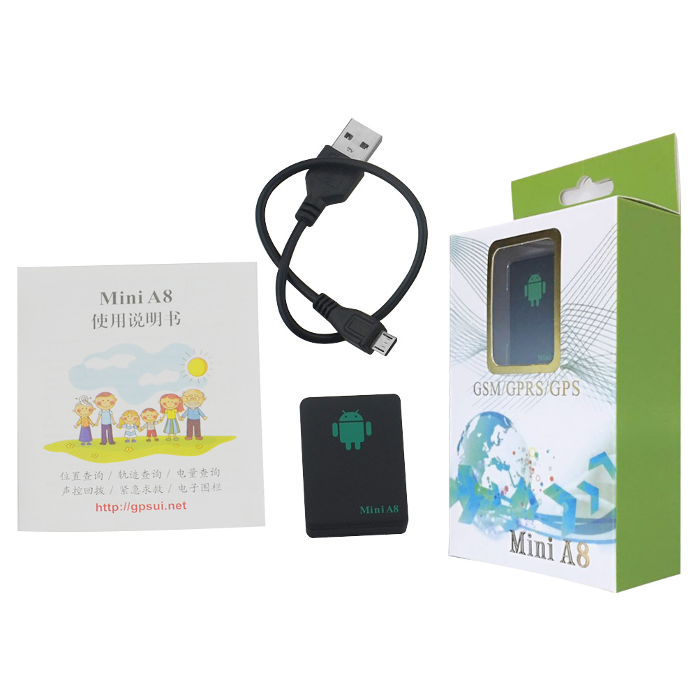 with original retail box MINI A8 GSM GPRS SMS tracker mini a8 with free app  and platform remote control classical tracker MINIA8