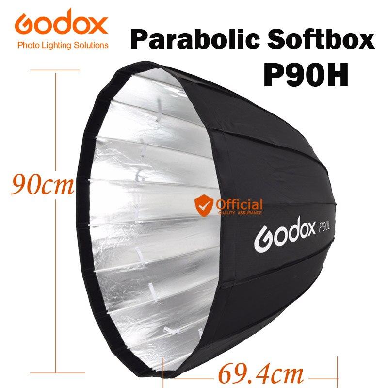 Godox P90H Résistant À Haute Température 90 cm Parabolique Parapluie Softbox Réflecteur Bowens Mont Pour Studio Photo Flash Speedlight