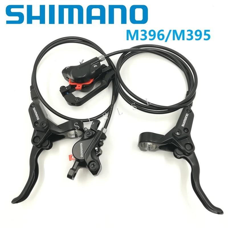 Vélo Hydraulique Disque De Frein SHIMANO BL/BR M396 M395 Leviers et Étrier De Frein Avant Arrière Huile De Frein Vtt accessoires