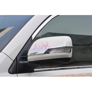 Image 3 - Chrome Car Styling Door Mirror Overlay Rearview Trim 2012 2013 2014 2015 2016 2017 2018 For Toyota Land Cruiser 200 Accessories