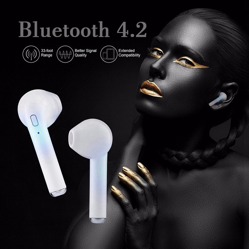 VTIN HBQ I7 <font><b>TWS</b></font> Twins Wireless Earbuds Mini Wireless Headset Earphone with Charging Case for iPhone 8 7 6 Plus Galaxy <font><b>S8</b></font> Plus image