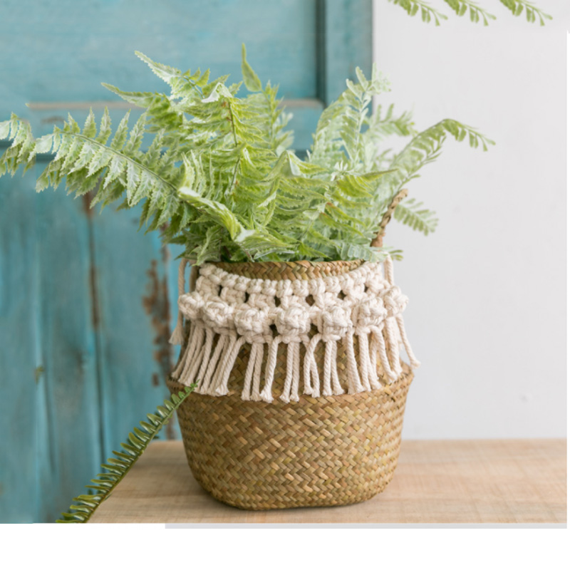 Seagrass white basket