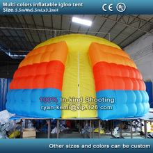 multi color inflatable igloo tent small inflatable dome tent inflatable events party tent inflatable exhibition tent with blower
