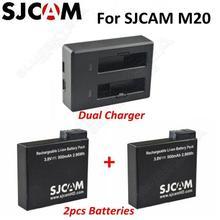 SJCAM Dual slot Charger 2x 900mAh Rechargable Li on Battery For SJCAM M20 Camera