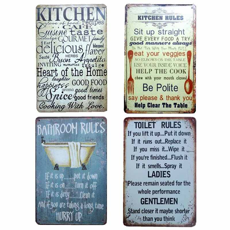Signs Plaques Wall Posters Tin Plate