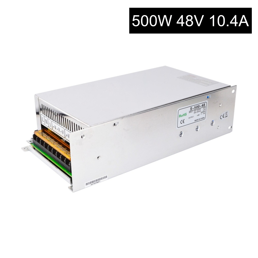 DC48V 500W 10.4A Switching Power Supply 115V/230V to Stepper Motor DIY CNC Router eemrke cob angel eyes drl for kia sportage 2008 2012 h11 30w bulbs led fog lights daytime running lights tagfahrlicht kits page 5