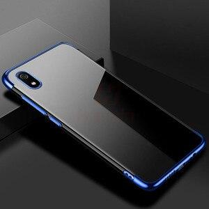 Image 5 - Hacrin per il Caso di Xiaomi Redmi 9 Caso di Lusso Trasparente Trasparente Del Respingente di TPU Del Silicone di Caso Della Copertura di Placcatura per Xiaomi Redmi 8 7A