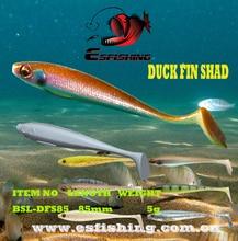 Fishing Soft Lure 6pcs 8.5cm/5g Esfishing Bait Shad Duck Fin 3.4″Crankbait  For Trolling Soft Pesca Sea Fishing Lure Saltwater