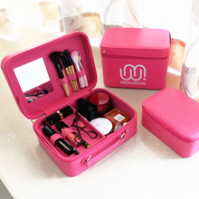 Women Big Cosmetics Bag Incorporate Luggage Professional Makeup Bag Waterproof Hand Holding Capacity With A Mirror Storage Bag