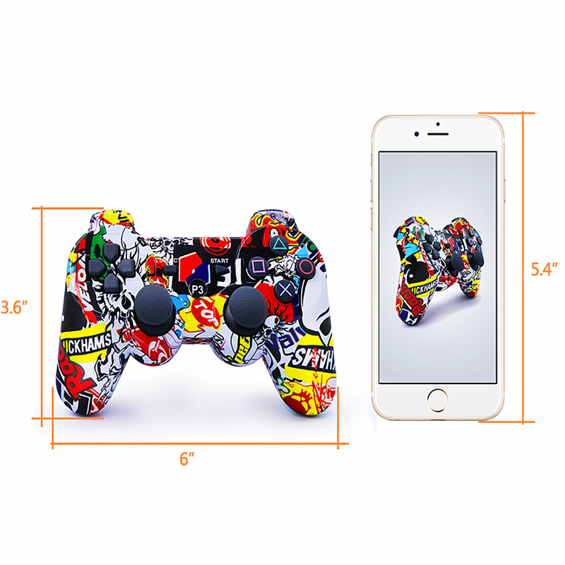Image 5 - Compatible Ps3 Gamepad Bluetooth Controller Joystick Vibrator SIXAXIS Compatible Playstation 3 Wireless Gamepad ps3-in Gamepads from Consumer Electronics