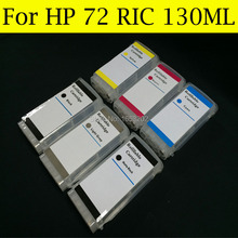 HIGH(130ml)Refillable Ink Cartridge for HP72 HP 72 T610/T620/T770/T1100/T1120/T1200T/1300/T790/T2300 C9403A C9397A with ARC цена