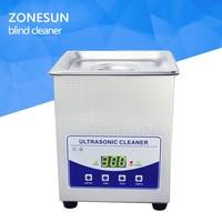 ZONESUN 2L цифровой ультразвуковой очистки Нержавеющаясталь бак Дисплей машины для очистки ювелирные часы зубных протезов очки слепой