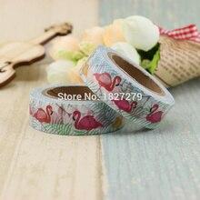 купить 1pcs Japanese Paper Animal Swan Washi Tape Paper Masking Tapes Adhesive Tapes Stickers Stationery Supplies tape дешево
