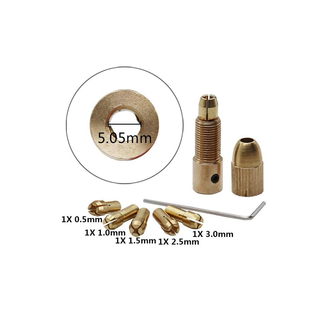 Collet Micro Twist Drill Chuck Set 7pcs/Set 0.5-3mm Small Electric Drill Bit