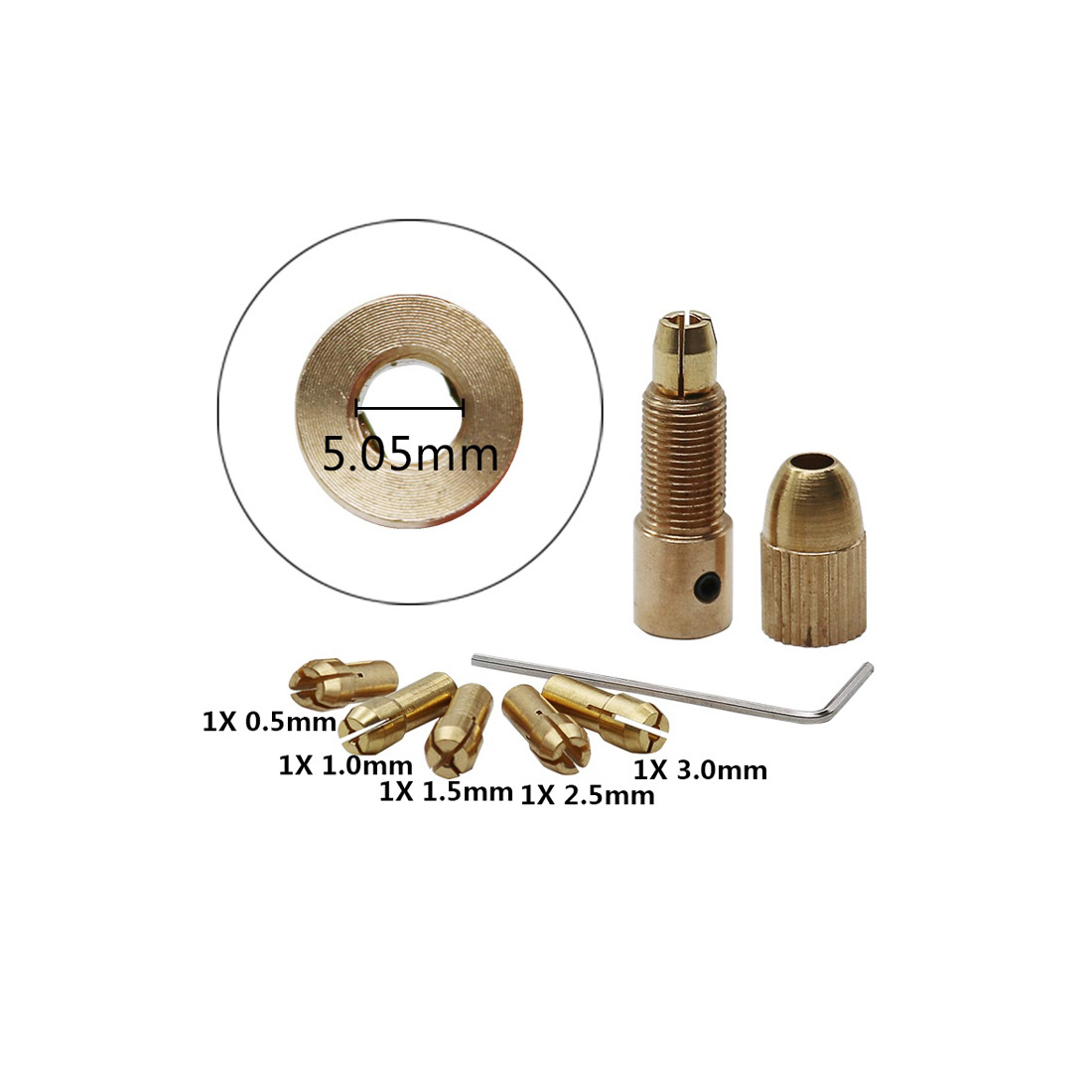 Electric Drill Bit Collet 7pcs/Set 0.5-3mm Small Micro Twist Drill Chuck Set a cartridge for a drill for dremel accessories