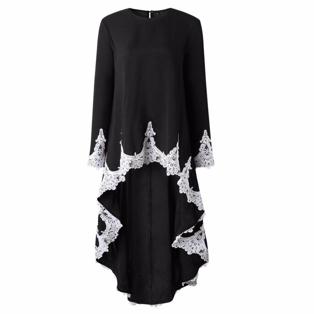 SINFEEL 2019 Winter Dress Women Party Lace Black Christmas Dress Vintage Female Autumn Irregular Elegant Long Dress Vestidos