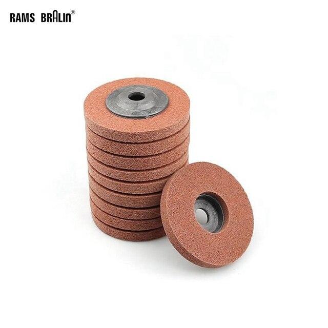 10 adet 100*12*16 A/O olmayan dokuma birim parlatma tekerlek naylon taşlama diski açı öğütücü araçları yumuşak Metal kaplama