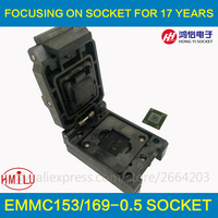 EMMC153 169 Test With BGA169 BGA153 Plate Spring Clamshell Aging Seat Seat Programming