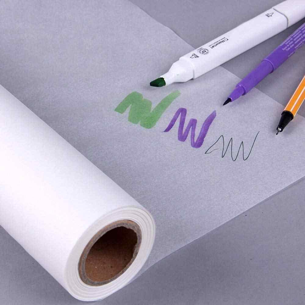 رسم بكرات ورق رسم شفاف رسم ورقة مائية دعم الخياطة A3 A4 حجم ورقة رسومات فنية لوازم 12 X 50 ياردة ورق للتلوين Aliexpress