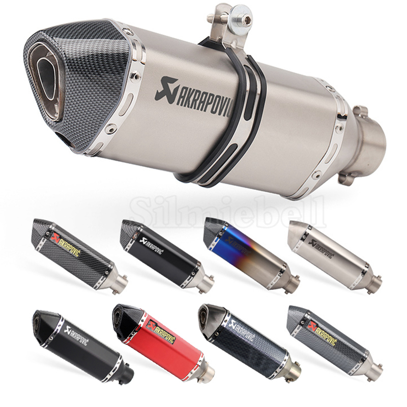 Universal Motorcycle Akrapovic Exhaust Pipe Muffler Escape F800r r1 trk502 gsxr750 msx125 cb650f z750 z900 z1000 pcx125 tmax 530 image