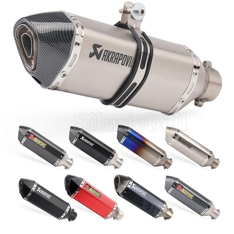 Universel Moto Akrapovic Tuyau D'échappement Silencieux D'échappement F800r r1 trk502 gsxr750 msx125 cb650f z750 z900 z1000 pcx125 tmax 530
