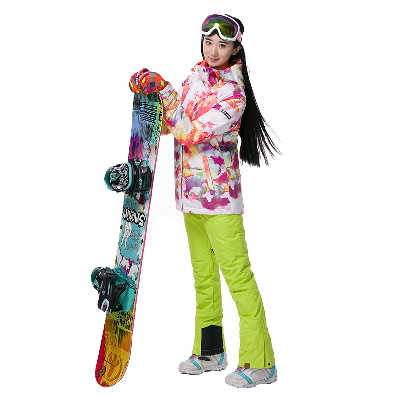 Gsou Snow Women Winetr Jacket Snowboard Skiing Jacket Women Waterproof Ski Jacket gsou snow ski suit for women skiing suit winter outdoor sports clothes snowboard set camouflage ski jacket and pants multicolor